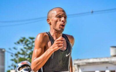 Felix Maidana, en el podio de la prueba de perderíamos «Termas Run»