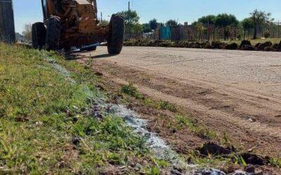 Comenzó la construcción del cordón cuneta en la calle Camilo Badía.