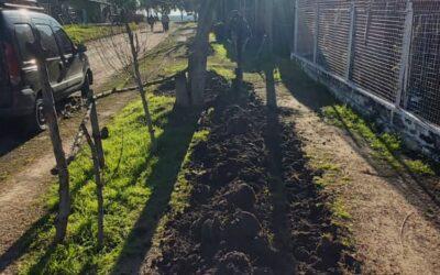 Nueva conexión y mantenimiento de red de agua en barrio Fátima